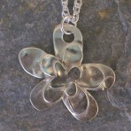 Sterling Silver Daisy Pendant Necklace – hand-drawn (or in 9ct Gold)