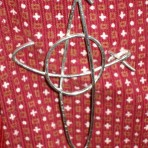 Sterling Silver Scottish Cross Kilt Pin
