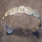 Sterling Silver Hammered Coins Circles Bangle (or in 9ct Gold)