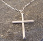 Large Plain Sterling Silver Cross – Unisex – or in 9ct Gold