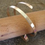 2 strand Thick Polished Silver Bangle Cuff (with or without 'end' caps), or in 9ct Gold