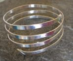 3 or 4 strand Thick Polished Silver Bangle Cuff (with or without 'end' caps)