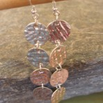 Sterling Silver Textured Circle Coin Earrings (or 9ct Gold)