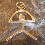 9ct Gold Indalo Man (El Indalo or Almeria Man) Pendant – 2 sizes