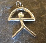 Sterling Silver El Indalo (Almeria) Man – Pendant or Key Ring