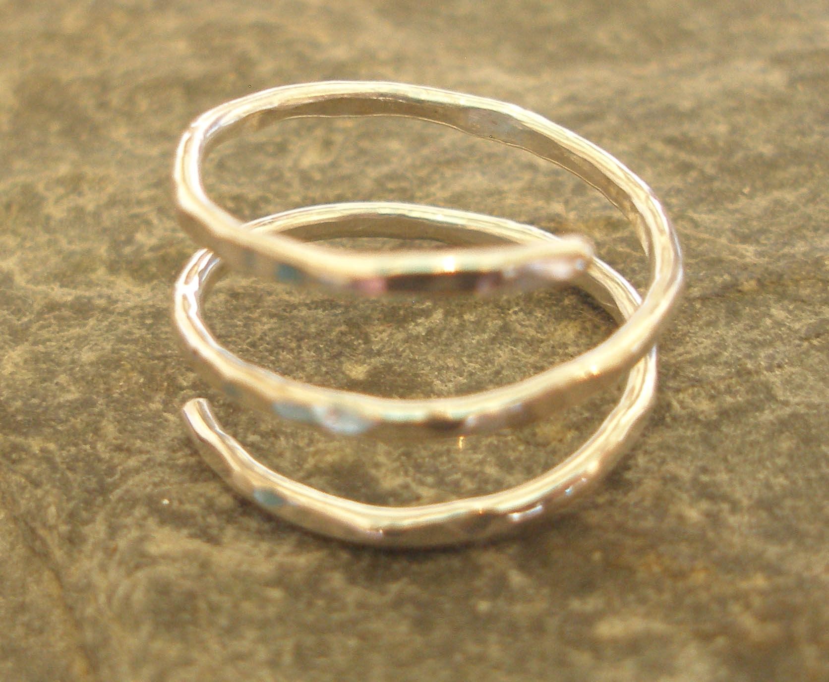 3 strand Hammered Sterling Silver Ring