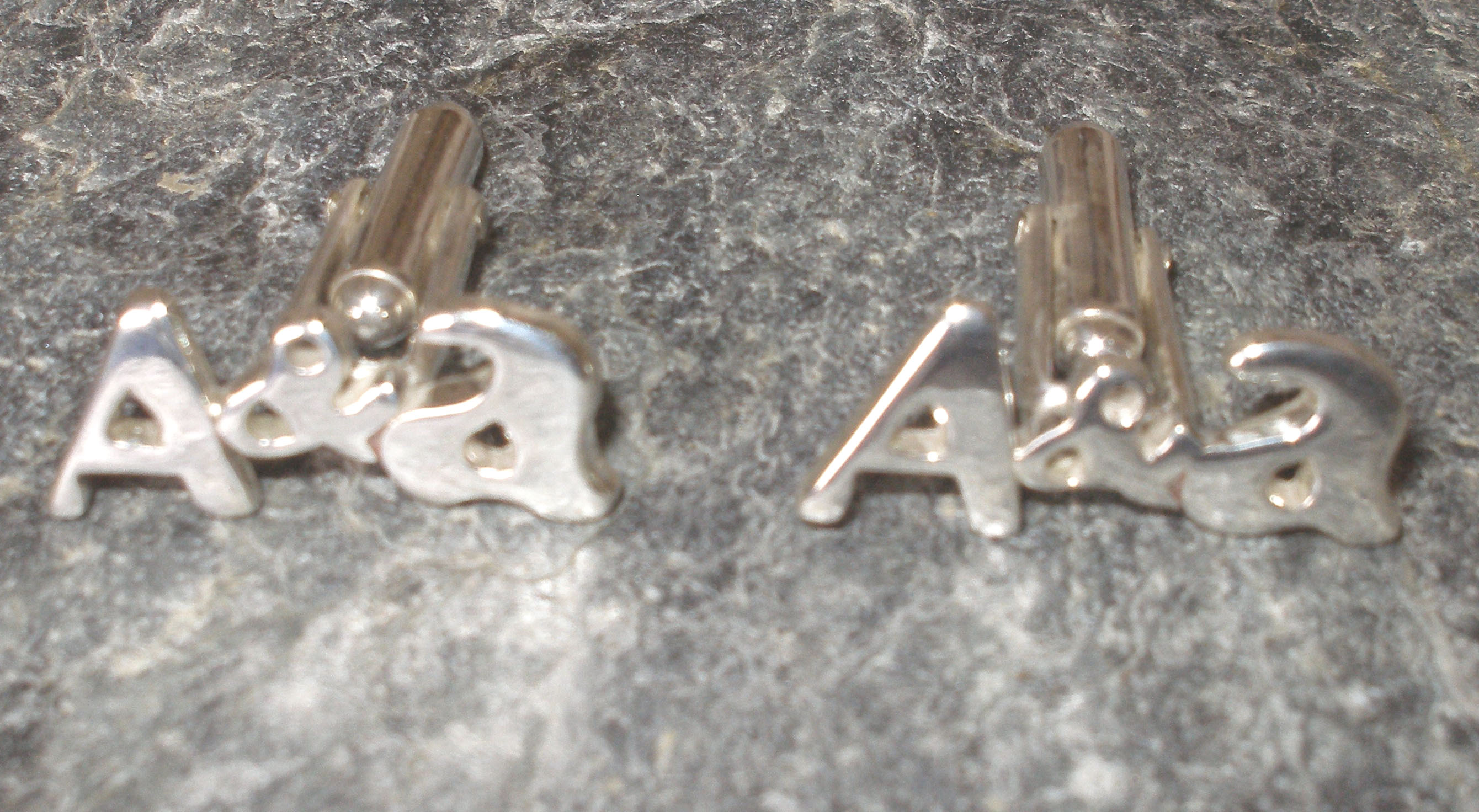 Sterling Silver Personalised Initial Name Cufflinks