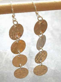 Silver Textured Circle Coin Earrings