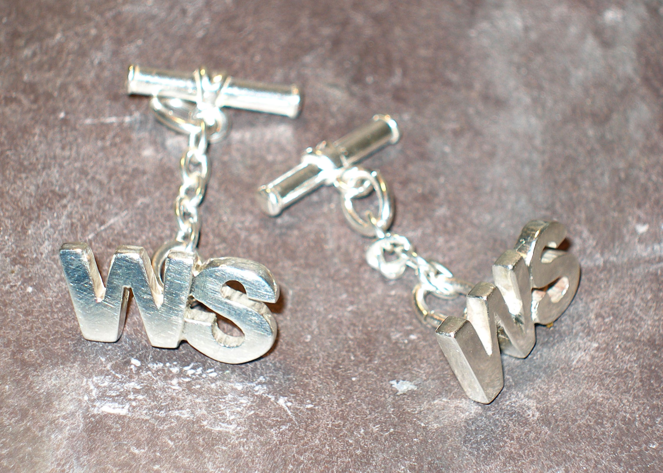 Personalised Name Initial Silver Cufflinks