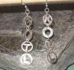 Initial Name or Personalised Silver Earrings, or in 9ct Gold