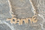 Personalised Name Initial Silver Necklace