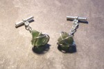 wrapped stone silver cufflinks