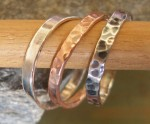 Silver and Copper Stacking RIngs