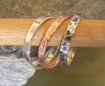 3 Stackable Rings in Silver & Copper (or 9ct Gold). Or 5 Rings.