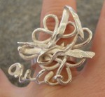 Industrial Silver Swirl Ring