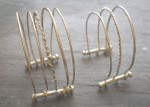 Sterling Silver Toast Rack Bangles