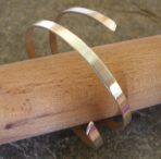 2 strand Thick Silver Bangle Cuff (with or without 'end' caps), or 9ct Gold