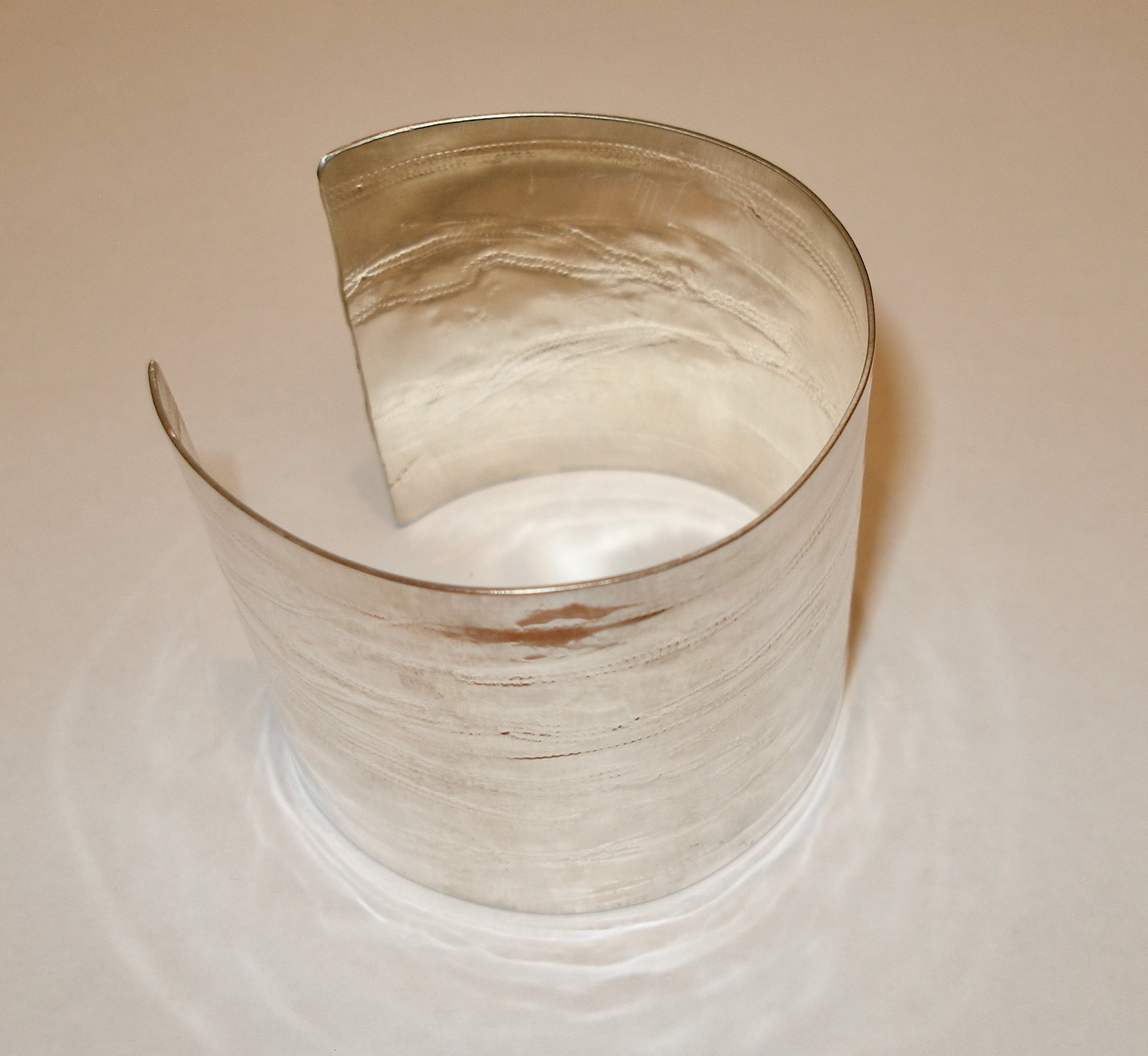 Chunky Textured Silver Large Cuff Bangle