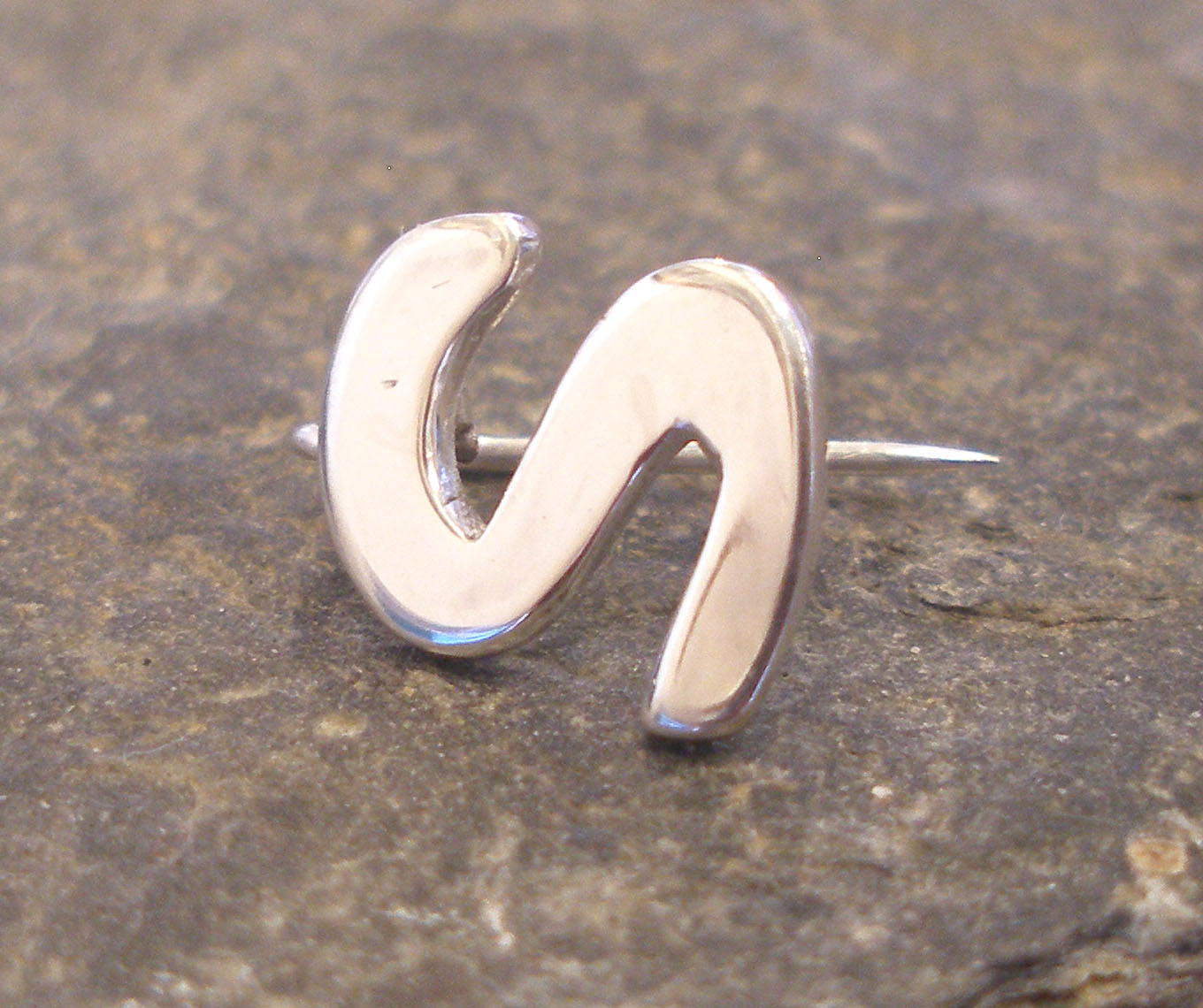 Sterling Silver S Pin
