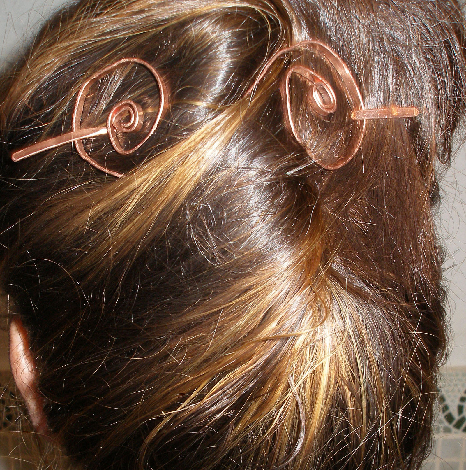 Copper Hair Jewellery Pin