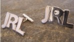 Sterling Silver Personalised Cufflinks, Initial, Name, Word