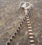 Sterling Silver Corrugated Rippled Long Dangle Earrings