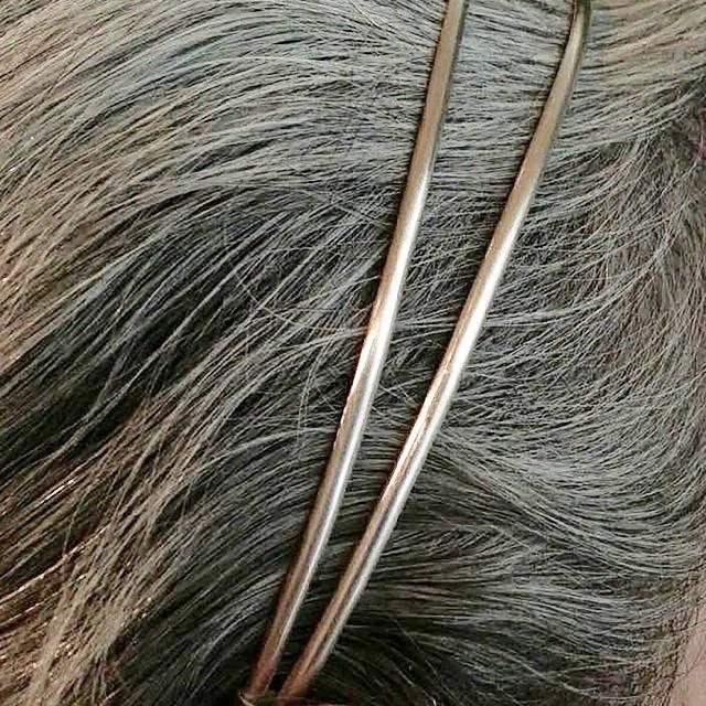 sterling silver double headband
