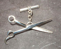 Sterling Silver Scissor Cufflinks