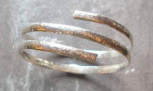 Silver Thick Spirarl Bangle