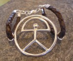 Sterling Silver Indalo Man in a circle
