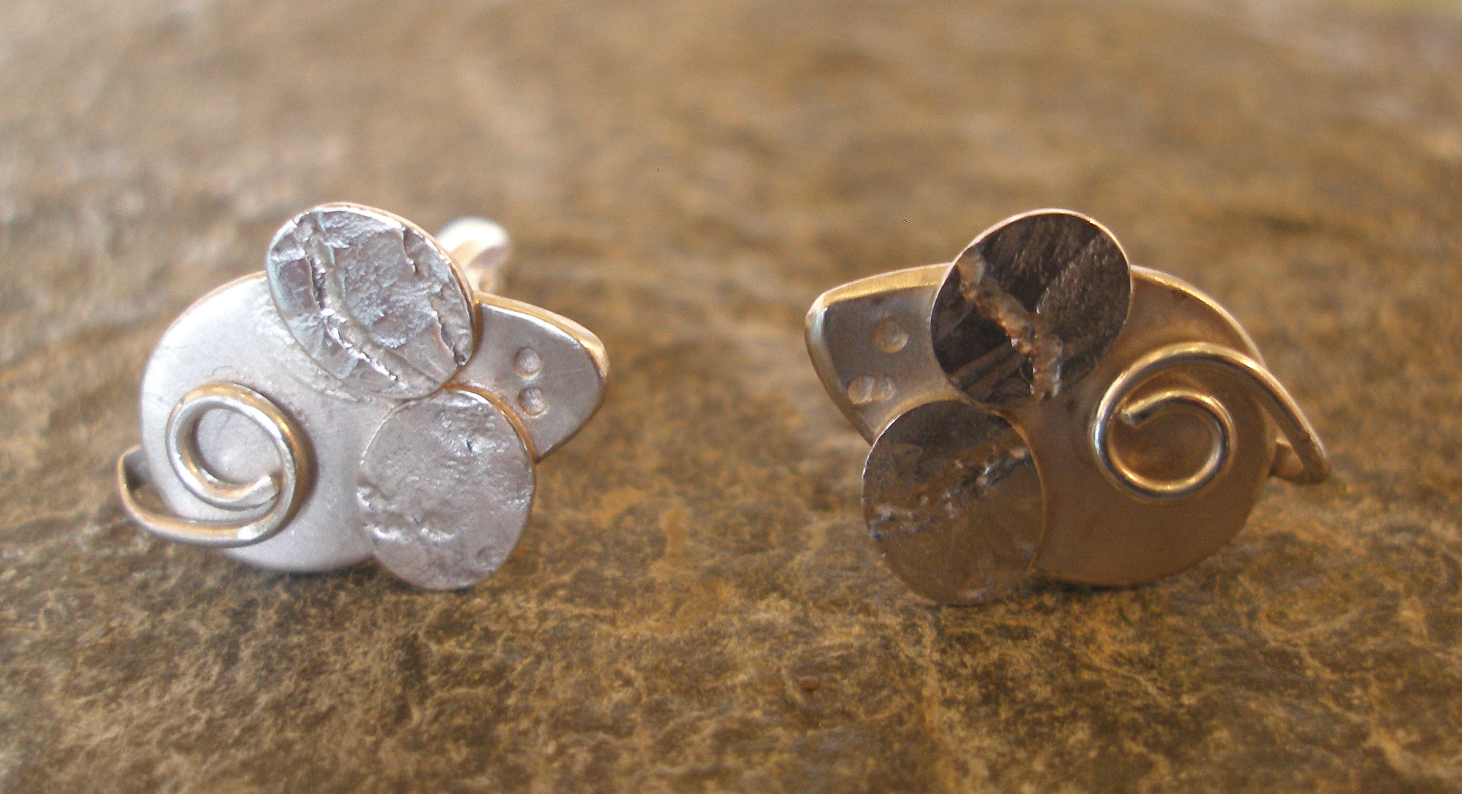 sterling silver mouse cufflinks