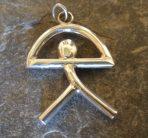 Sterling Silver Indalo Man (Almeria Man, El Indalo) – Pendant or Key Ring