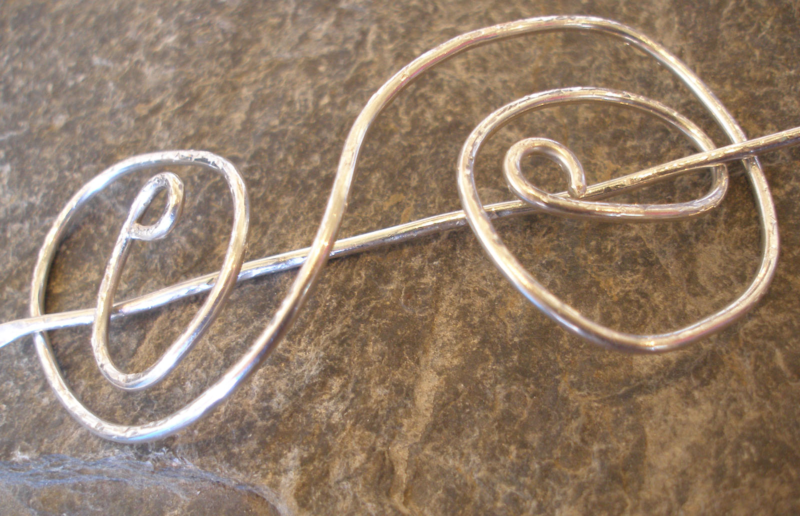 Sterling Silver Hair Jewellery Pin